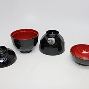 4-Pc-Japanese-Lacquer-bowl-with-Lid-for-soup-or-rice-RB-0