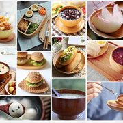 HoneyHome-Handmade-Jujube-Solid-Wood-Bowl-for-Rice-Miso-Soup-Dip-Desserts-Chips-Snacks-Cereal-Salad-Fruit-Decoration-Set-of-4-M-0-5