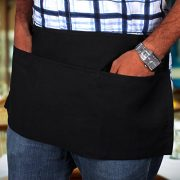 3-Pockets-Waist-Apron-SET-of-2-Black-24x12-inches-Restaurant-Half-Aprons-Bartender-Apron-Money-Apron-by-Utopia-Wear-0-0