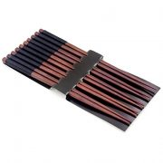 Bamber-Hardwood-Chopsticks-Set-Anti-slip-Design-Pack-of-5-Black-0-1