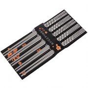Happy-Sales-HSCSS4-10-Pc-Chopstick-Stainless-Steel-Chopsticks-5-Pairs-spiral-0
